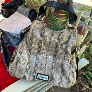 Faux snake skin bag